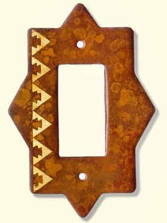 Large photo of rustic switch plate #F1R